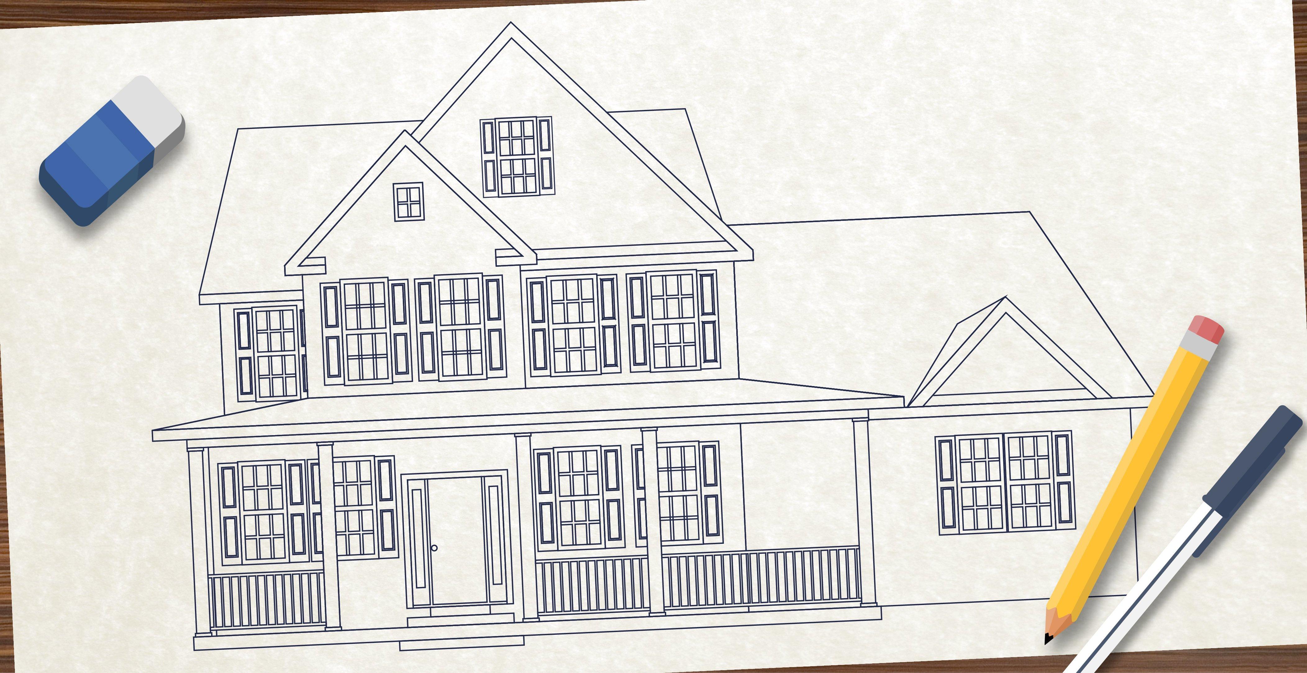 ออกแบบบ้าน บ้านชั้นเดียว บ้านสองชั้น คุณภาพ