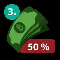 จ่ายเงินมัดจำ 50%